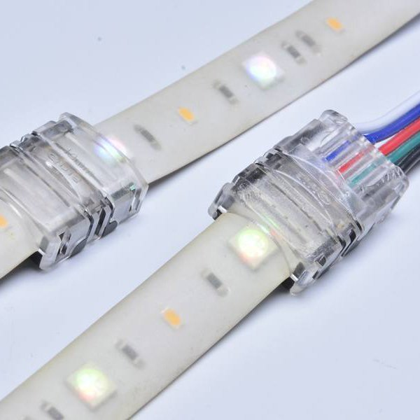 10mm 5 pin led connectors rgbw for 5050 rgb white led strip light connection IP54 ip65 waterproof dj-n12xb-5
