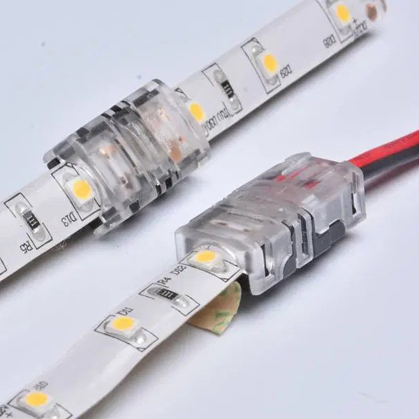 8mm 2pin led strip connector for single color IP65 waterproof dj-n8xb-2