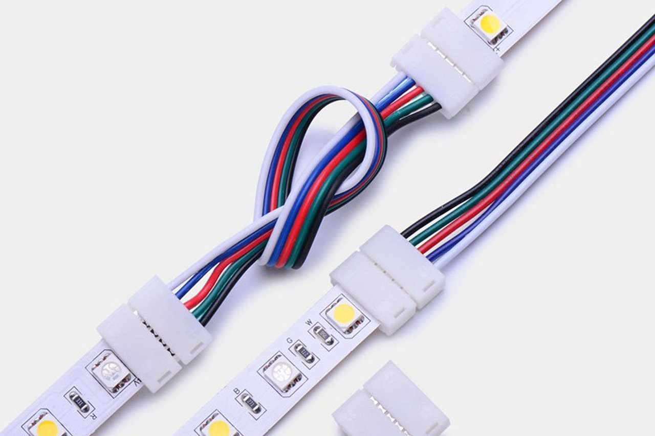 4 pin led strip connectors for 5050 rgb led strip lights,ws2812b,ws2813